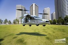 this flying car concept takes off and lands like a helicopter
