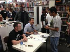 hot comic book creators bring the crowds to smithtown shop